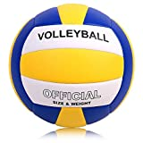 バレーボール 5号球 軽量 検定球 室内室外 練習用ボール 初心者 婦人用 一般・大学・高校 (青、白、黄)