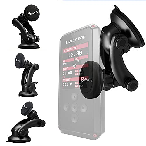 Lycogear Heavy Duty Strong Suction Mount w/N60 Magnetic Cradle Holder for Bully Dog BDX / SCT BDX Pop Auto Engine Tuner Programmer (Also Compatible with Smartphone Socket Holder)