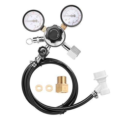 TEVISE Presión Barril de Cerveza Regulador de la válvula de Seguridad 0-3000 Bombas de presión para Agua de Dial de Aceite de Aire (Color : Black)