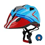 Atphfety Kids Bike Helmets,CPSC Certified,Adjustable Multi-Sport Safety Helmet with LED Light for Cycling Skate Scooter Roller (Captain)
