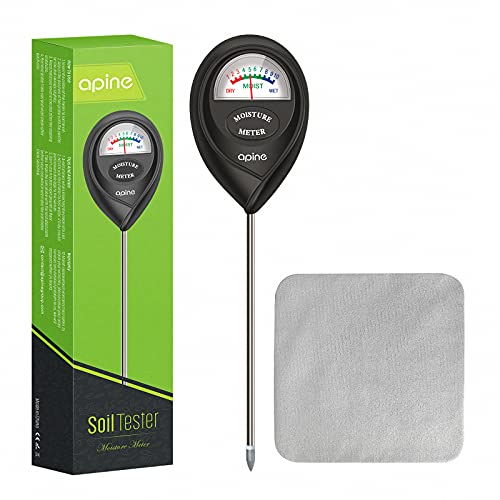 apine Soil Moisture Meter,Plant Water Meter,Moisture Meter for Plants, Water Meter for Indoor Plants,Plant Care Tools(Black)