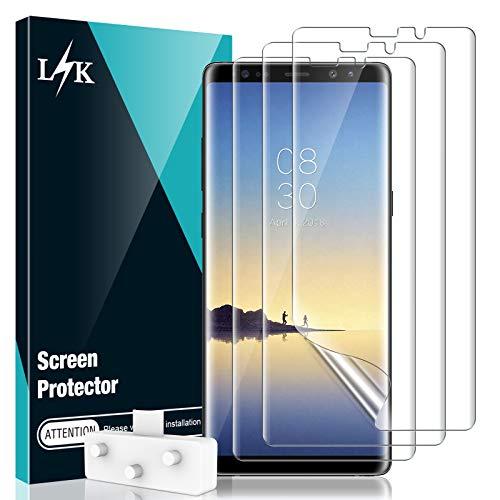 LϟK 3 Stücke Schutzfolie für Samsung Galaxy Note 8, Klar HD Weich Folie [TPU-Film] [Blasenfreie] [Kompatibel mit Hülle] [Einfache Installation] Samsung Note 8 Bildschirmschutzfolie
