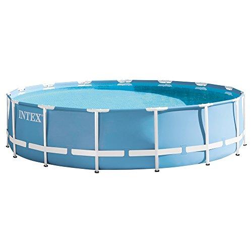 Intex 28728 Piscina Prisma Frame con Pompa Filtro, Scaletta, Telo Base e Copertura, Azzurro