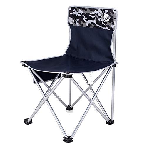 Silla de Comedor sillas Asiento Fold Ultralight Portable Leisure Director de Acampada de Playa Sketch Art Fishing Tourism Tingting (Color : Azul Oscuro, Tamaño : 60cm)