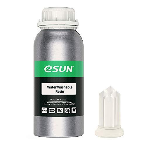 eSUN LCD UV 405nm Resina Lavabile con Acqua per Stampante 3D Resina Fotopolimerizzante UV Resina Fotopolimerica Rapida per Stampa 3D LCD, 500g Trasparente