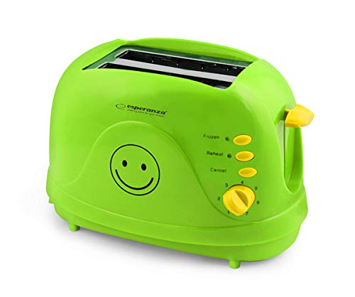 Esperanza EKT003 Toster Smiley, PC, Grün