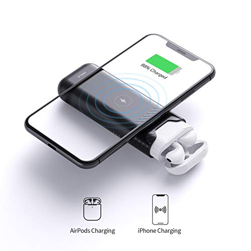 iWALK Portable Charger Charging Case Compatible with AirPods1 AirPods2, Airpods Case Cover Wireless Portable Power Bank USB C with 5200mAh External Battery Compatible with iPhone, Nintendo Switch