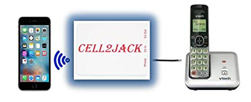 Cell2Jack - Cellphone to Home Phone Adapter - Avoid Harmful Cell Signal Radiation. Make and Receive Cell Phone Call on Your landline Phone Free