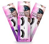 Reusable Fake Eyelashes – Lightweight, Natural False Lashes – With Lash Glue: 3 Sets