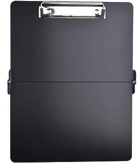 YOMNEE Foldover Clipboard Full Size Clipboard Lightweight Aluminum Construction (Black)