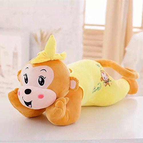 Doinbtoy Almohada de muñeca de Mono Banana de Dibujos Animados, Almohada de Siesta, Juguetes de Peluche, Regalos para niños y niñas 80cm Amarillo
