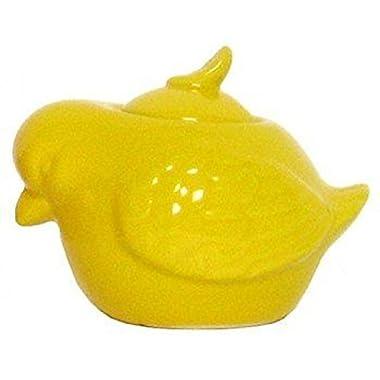 Stoneware Yellow Bird Sugar Bowl, Set of 2 - 8oz. - 3 Lx3.75 W