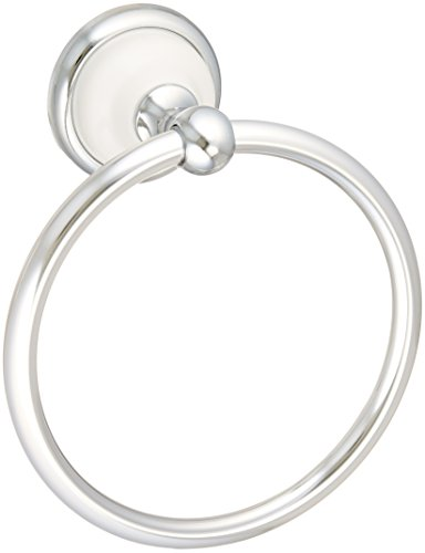 Franklin Brass  126882 Bellini Towel Ring, Polished Chrome & White