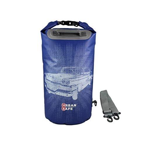 Urban caja fuerte impermeable bolsa de 20 Liter azul