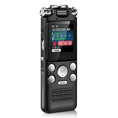 Nrpfell Audio Digital Grabadora de Voz BolíGrafo Pantalla Sin PéRdida de Color Sonido Activado DictáFono Reproductor de MP3 GrabacióN ReduccióN de Ruido (32GB)