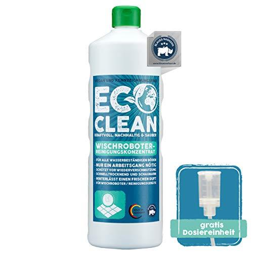 Eco Clean® Wischroboter Reinigungsmittel 1L Konzentrat - hochwirksames Reinigungsmittel für Wischroboter - professionelles Bodenreiniger Mittel - Made in Germany