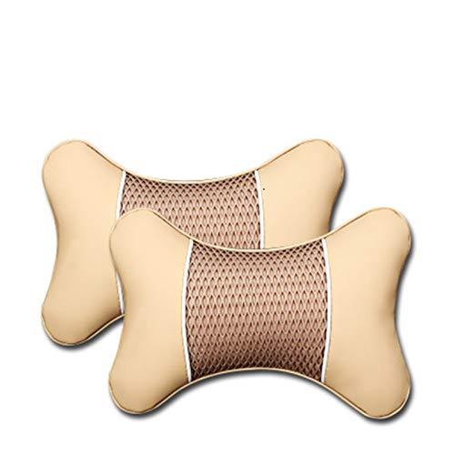 CHENZHEN 2 unids PU cuero hechos punto almohadas almohadas reposacabezas cuello de descanso amortiguador soporte asiento accesorios auto negro de seguridad almohada universal decoración universal