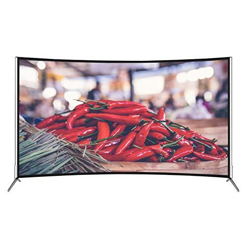 GXFCH SHOP LED Slim Network Smart TV, TV Curvo TV 2K LCD de 42 Pulgadas se Puede Usar para teléfono móvil, proyección de Pantalla de tabletas,42inch