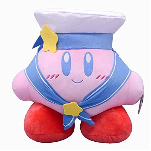 Huagdf Dibujos Animados Kirby Navy Outfit Muñeco De Peluche Decoración De Juguete Precioso Juguete De Peluche Kirby Niños 34Cm 1