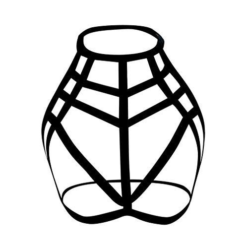 Dorical Damen Dessous reizvoller Art- und Weisedamehalter-elastischer Käfig-reizvoller Strappy Bustier BHS Harness Elastische Sexy Body Cage BH Halter Crop Top(Schwarz,X-Large)
