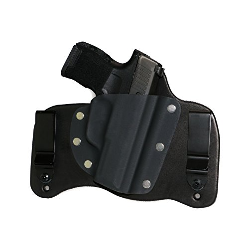 FoxX Holsters Compatible for New Sig Sauer P365 in The Waistband Hybrid Holster Tuckable, Concealed Carry Gun Holster (Black)