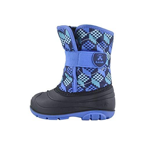 Kamik Boy's Snowbug4 Snow Boot, Navy/Strong Blue, 5 Toddler