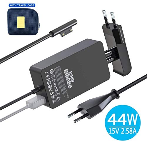 Surface Pro 4 Surface Laptop Netzteil Ladegerät, 44W 15V 2.58A Adapter for Microsoft Surface Pro Surface Laptop Surface Pro 3 & Pro 4 Surface Book mit 6ft Netzkabel inkl. eine Tragetasche