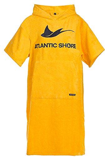 Atlantic Shore | Surf Poncho ☆ Bademantel/Umziehhilfe aus hochwertiger Baumwolle ➤ Yellow/Gelb - Middle (140-175cm)