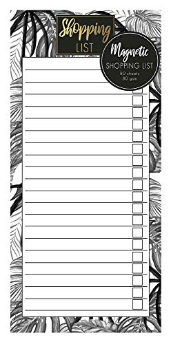 Design Group Monochrome Jungle Magnetic Refrigerator Shopping List Pad