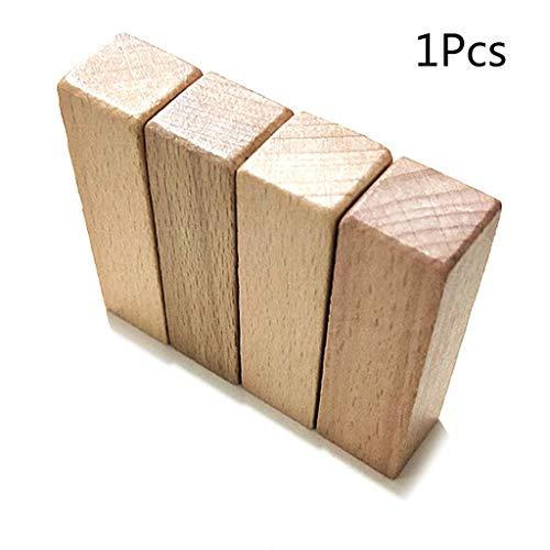 CarryKT Onvolmaakte houten blok voor hout handwerk DIY stempel zegel levert scrapbooking carving handgemaakte tool