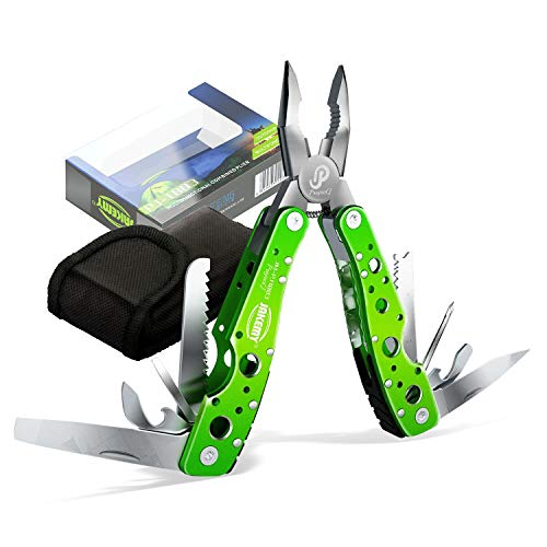 JAKEMY 9 Tools 15 Functions in 1 Multitool Portable Folding Pocket Knife Pliers Screwdriver Cutter...