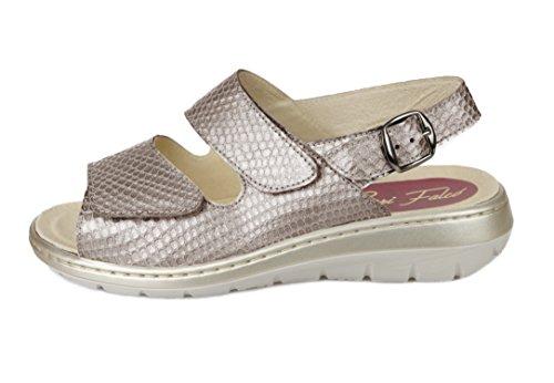 Sandalias mujer para pies delicados (Color taupe)