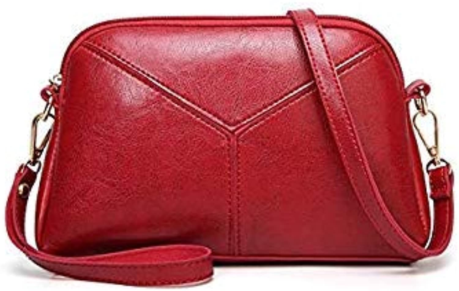 Bloomerang Women Shoulder Bags Fashion Women Crossbody Bags Oil Wax Leather Tote Bag Casual Pu Leather Messenger Bag color red