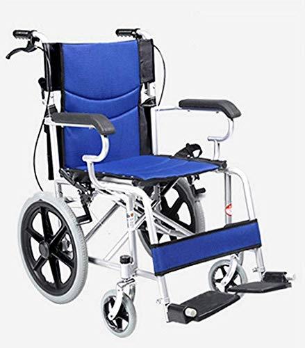 Rollstuhl Carbon Steel, Faltlicht Manuell Tragbarer Wagen Behinderte Senioren Reisen Super Light Scooter, tragbar