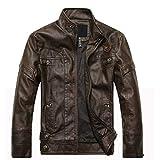 Leather Jacket Men's Multicolor Slim Motorcycle Lightweight2-M