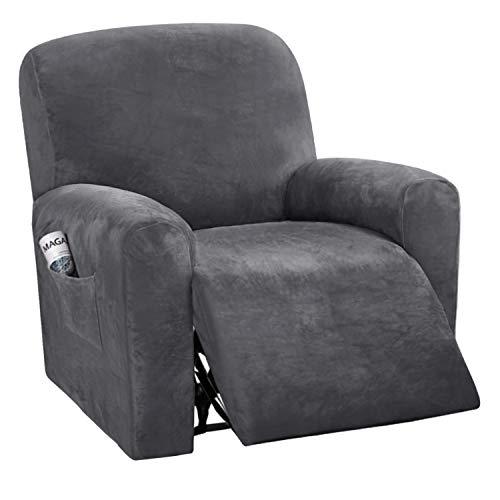 Velvet Plush Couch Cover for Recliner Slipcover Stylish Luxury Furniture...