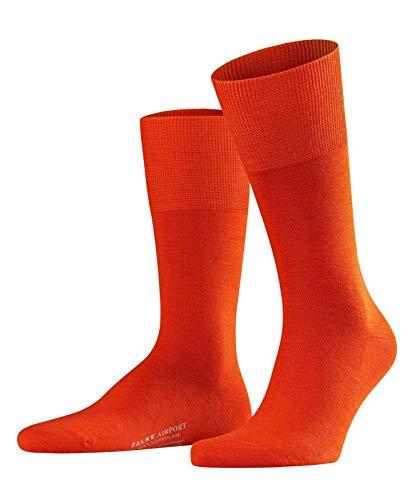 FALKE Herren Socken Airport - Merinowoll-/Baumwollmischung, 1 Paar, Orange (Ziegel 8095), Größe: 39-40