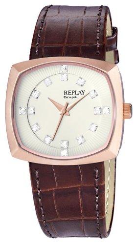 Replay Damen-Armbanduhr Analog Leder RW8401BU