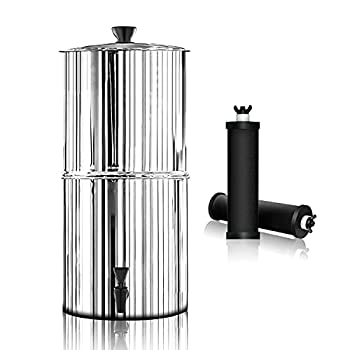Purewell Gravity-Fed Water Filter High Capacity 2.9 Gallon with 2 Purification Elements for Home and Travel