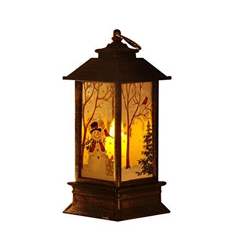 fucsiaan Lámpara LED de Papá Noel Muñeco de Nieve con Luce de Noche, árbol de Navidad para Colgar Decoración de árbol de Navidad, para Fiestas, Niños, Decoración del Hogar