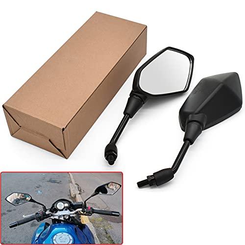 1 par de Espejos retrovisores de Motocicleta, para Suzuki GSF600 Bandit GS1000 GS500 GSX1100F Katana 10mm 8mm Espejo Convexo Lateral Trasero