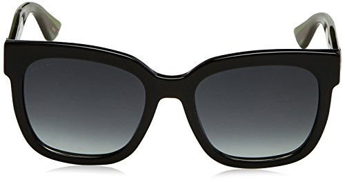Fashion Shopping Gucci GG0034S – 002 Sunglasses Black/Green w/ Grey Gradient Lens 54mm