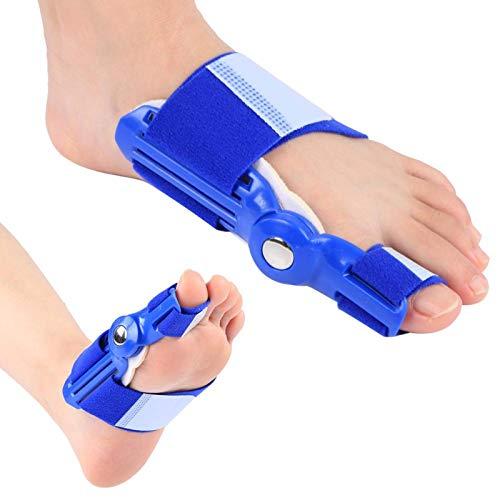 XINMYD Corrector de juanetes, 2 uds, Corrector de juanetes para Adultos, separadores de Dedos ortopédicos, Equipo de ortesis de Hallux Valgus para Uso diurno/Nocturno de la Mujer(Azul)