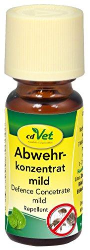cdVet Naturprodukte Abwehrkonzentrat mild 10 ml - Hund&Katze&Pferd - Schutz vor Flöhen,Zecken,Milben,Haarlingen,Insekten - Hervorragender Langzeitschutz -  rein pflanzliche Inhaltsstoffe -