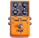 NUX Time Core Deluxe Multi Delay Pedal 8 Delays y Looper función + llavero de púa keepdrum