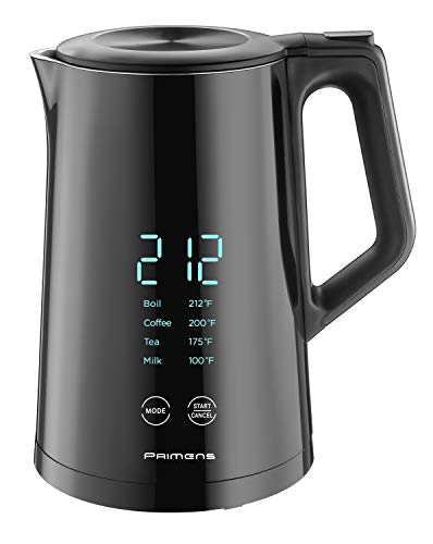 Smart Electric Kettle Temperature Control - LED Display -Keep Warm - Hot Water Tea & Coffee Kettles, Double Wall Cool Touch, Fast Boil 100% Stainless Steel 304, Variable Temperature 2-year Warranty