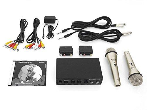 Karaoke Einsteiger Set inkl. 2 Mikrofonen Karaoke DVD und den benötigten Kabeln