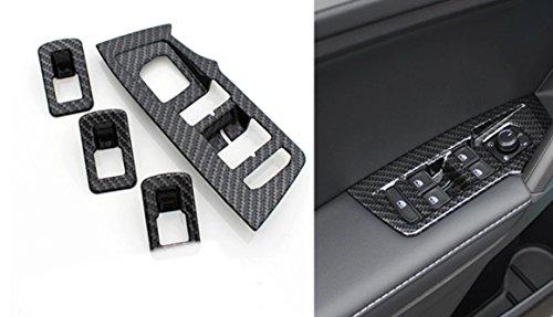 Emblem Trading ABS Carbon Optik Fensterheber Rahmen Blende Abdeckung Passend Für Tiguan 2 AD1 ab 2016