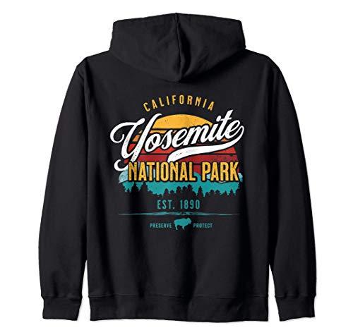 Retro Sun Yosemite National Park California Souvenir Gifts Zip Hoodie