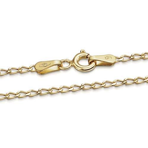 Amberta Cadena Barbada Unisex en Oro de 9 Quilates 1.1 mm: 60 cm